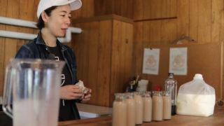 コーヒー牛乳(搾りたて生乳100%使用)